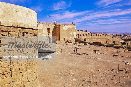 Ruins and defensive walls (Segundo Recinto), Alcazaba, Almeria, Andalucia, Spain, Europe