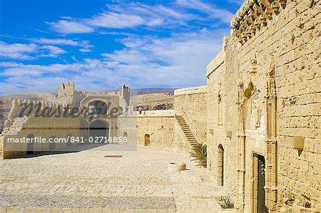 View of Tercero Recinto, Alcazaba (Moorish castle), Almeria, Andalucia (Andalusia), Spain, Europe