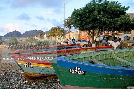 Waterfront, Mindelo, island of Sao Vicente, Cape Verde Islands, Africa