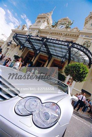Silver Mercedes at the Casino, Monte Carlo, Monaco
