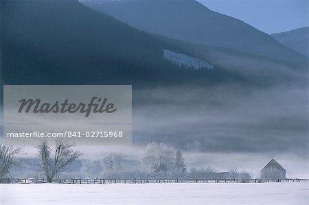 Winter in the Rocky Mountains, Alberta, Canada