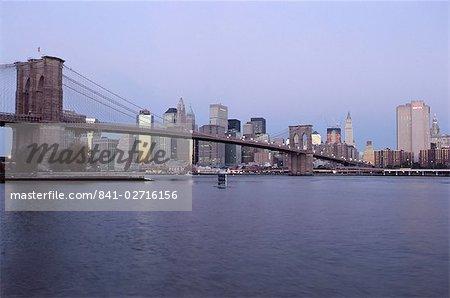 Manhattan skyline, New York City, New York, United States of America, North America