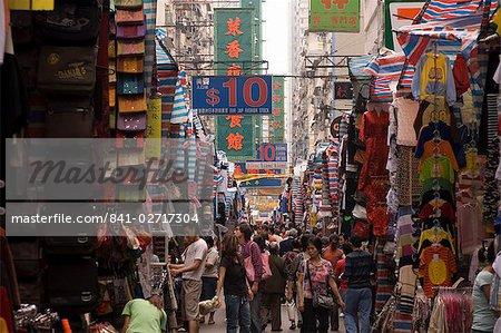 Tung Choi Street, Mong Kok district market, Kowloon, Hong Kong, China, Asia