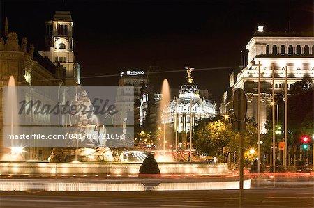Cibeles Square (Plaza de Cibeles), Madrid, Spain, Europe
