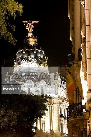 Metropolis Building, Calle de Alcala, Madrid, Spain, Europe