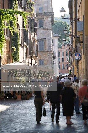 Via della Lungaretta, Trastevere, Rome, Lazio, Italy, Europe