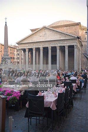 Rotonda Square and Pantheon, Rome, Lazio, Italy, Europe