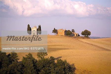 Near Pienza, Val d'Orcia, Tuscany, Italy, Europe
