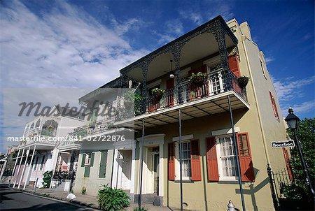 Bourbon Street, French Quarter, New Orleans, Louisiana, United States of America (U.S.A.), North America