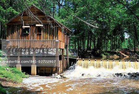 Restored mill near Riley, in Monroe County, southern Alabama, Alabama, United States of America, North America