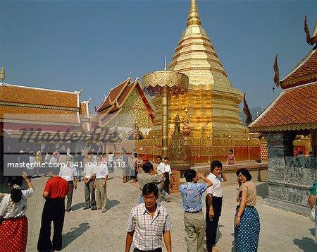 Wat Phra That Doi Suthep temple, near Chiang Mai, Thailand, Southeast Asia, Asia