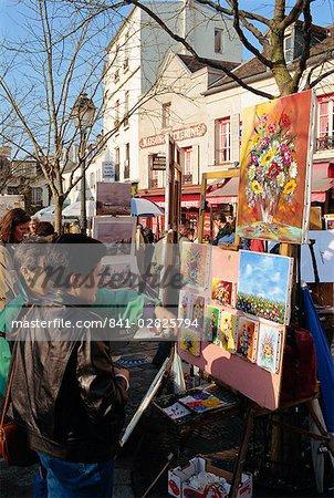 Montmartre area, Paris, France, Europe