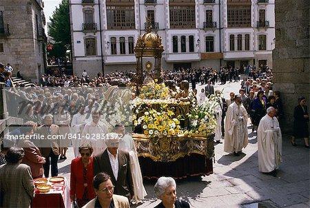 Corpus Christi procession, Lugo, Galicia, Spain, Europe