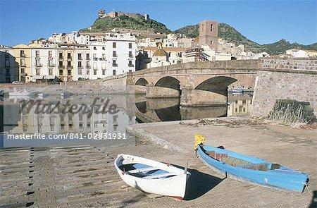 River Temo, Bosa, Nuoro province, Sardinia, Italy, Europe