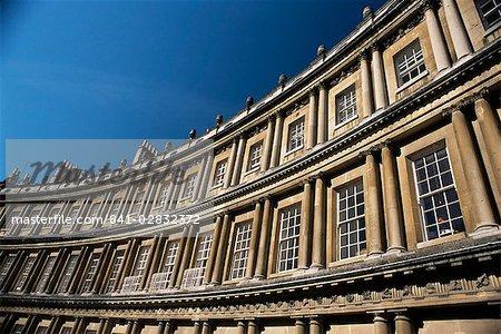Architectural detail, The Circus, Bath, UNESCO World Heritage Site, Avon, England, United Kingdom, Europe
