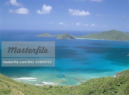 Aerial view of the North Sound, Virgin Gorda, British Virgin Islands, West Indies, Caribbean, Central America