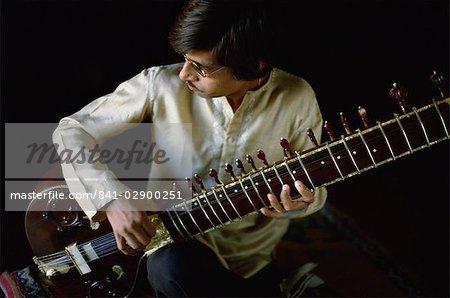 Sitar player, India, Asia