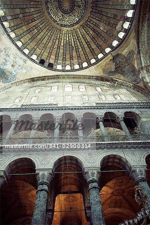 Interior of the Santa Sophia, UNESCO World Heritage Site, Istanbul, Turkey, Europe, Eurasia