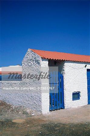Detail of a coastal cottage, Calhau, Sao Vicente, Cape Verde Islands, Atlantic, Africa