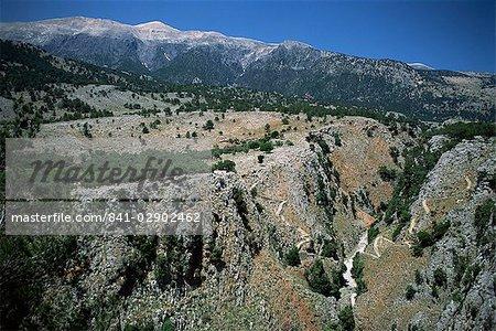 The Aradaina Gorge and White Mountains, Sfakia, Crete, Greece, Europe