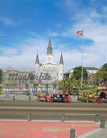 Jackson Square, New Orleans, Louisiana, United States of America, North America