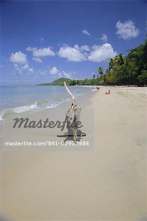 Beach at Choc Bay, St. Lucia, Windward Islands, West Indies, Caribbean, Central America