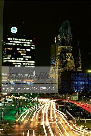Kurfurstendam and Kaiser Wilhelm Memorial Church, Berlin, Germany, Europe