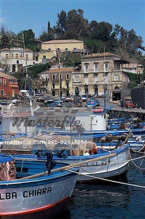 Fishing village of Santa Maria la Scala, Sicily, Italy, Mediterranean, Europe