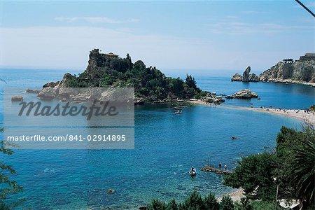 Isola Bella, Taormina, island of Sicily, Italy, Mediterranean, Europe