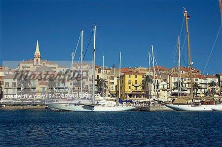 Quai Landry from the harbour, Calvi, Corsica, France, Mediterranean, Europe