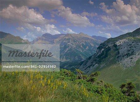 Pico de Anayet from Col de Somport, Aragon, Pyrenees, Spain, Europe