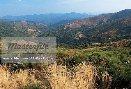Hills near St. Maurice-de-Ventalon, Cevennes National Park, Lozere, Languedoc-Roussillon, France, Europe
