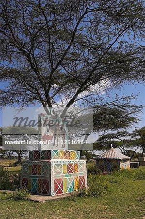 Oromo graves near Meki, Rift Valley, Ethiopia, Africa
