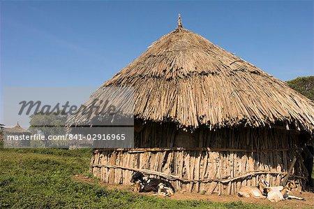 Oromo village near Langano lake, Rift Valley, Ethiopia, Africa