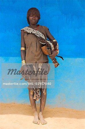 Banna woman at weekly market, Key Afir, Lower Omo Valley, Ethiopia, Africa