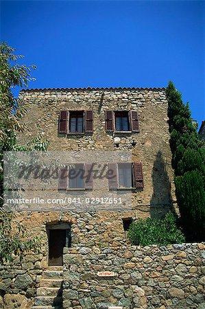 Traditional architecture, San Antonino, Balagne region, Corsica, France, Europe