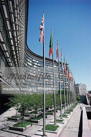 Flags of EU member countries, Brussels, Belgium, Europe