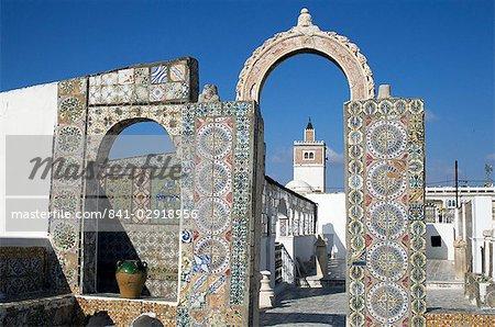 Terrace du Palais d'Orient, Tunis, Tunisia, North Africa, Africa