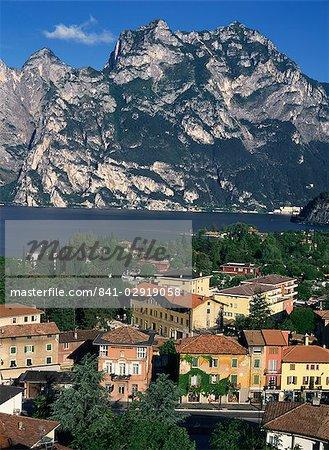 The town of Torbole on Lake Garda, Lombardia, Italy, Europe
