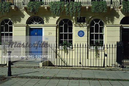 Virginia Woolf's house, Fitzroy Square, London, England, United Kingdom, Europe
