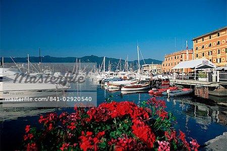 View across the harbour, Santa Margherita Ligure, Portofino Peninsula, Liguria, Italy, Europe