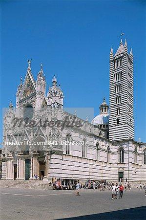 Duomo (cathedral), UNESCO World Heritage Site, Siena, Tuscany, Italy, Europe