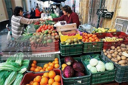 Street market, Sanlucar de Barrameda, Andalucia, Spain, Europe