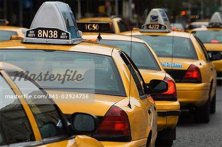 Taxi cabs, Manhattan, New York City, New York, United States of America, North America