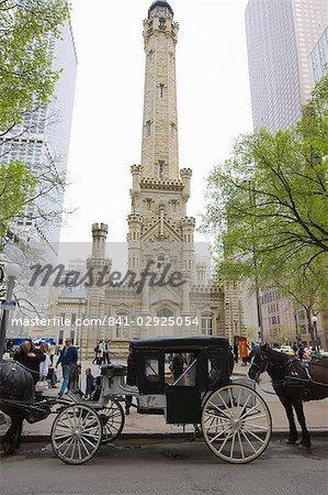 The Historic Water Tower, North Michigan Avenue, Chicago, Illinois, United States of America, North America