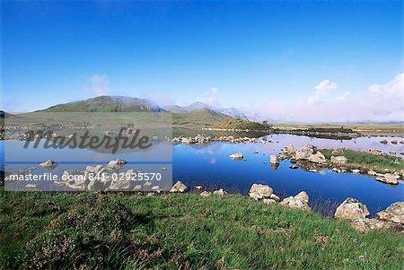 Lochan na h-Achlaise, Rannoch Moor, Black Mount in the background, Highland region, Scotland, United Kingdom, Europe