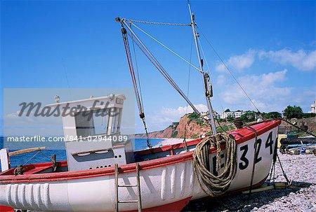 Fishing boat, Budleigh Salterton, Devon, England, United Kingdom, Europe
