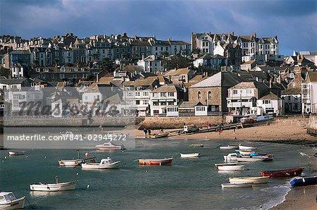St. Ives harbour, St. Ives, Cornwall, England, United Kingdom, Europe