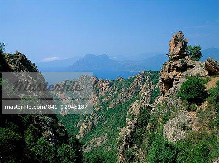 The Calanche, west coast, island of Corsica, France, Mediterranean, Europe