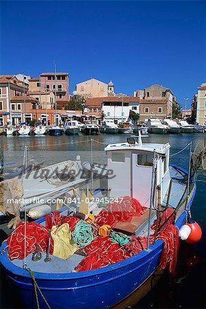 La Maddalena harbour, Sardinia, Italy, Mediterranean, Europe